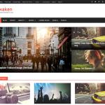 Awaken — шаблон в виде журнала
